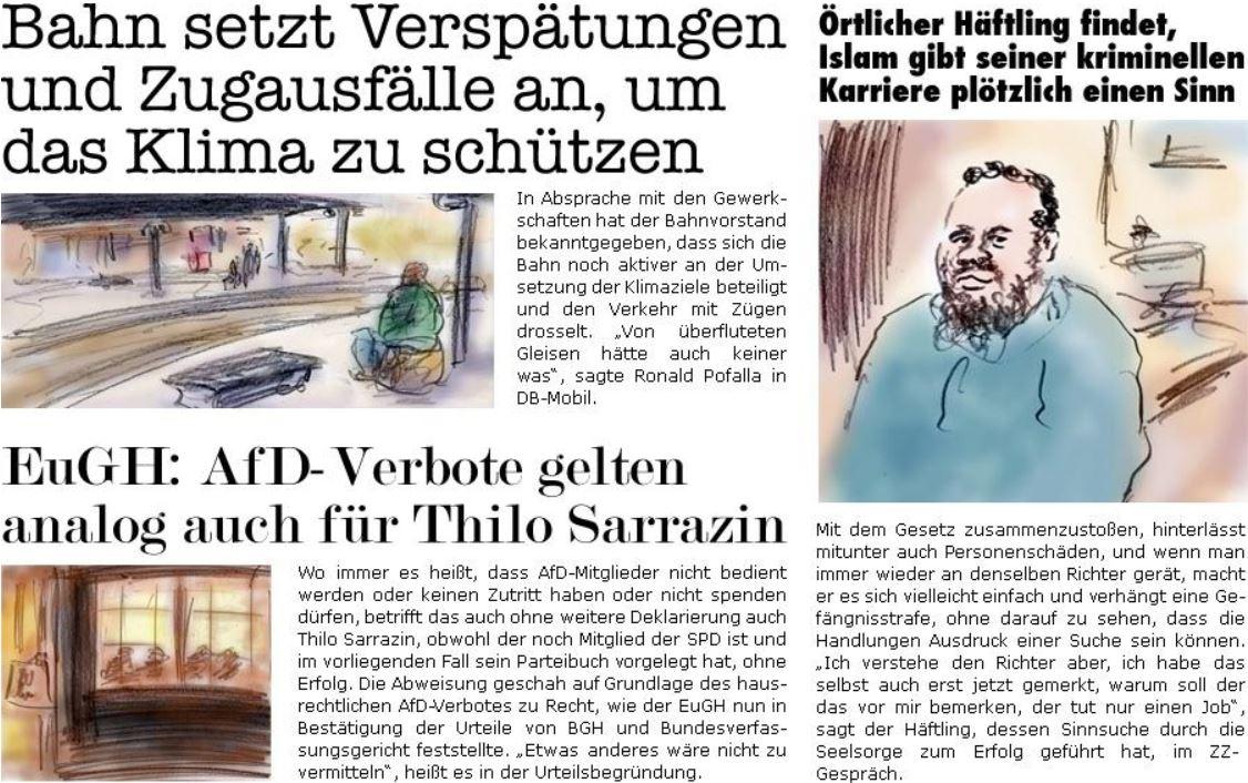 """Satire in der """"ZellerZeitung"""", 20.12.2018."""