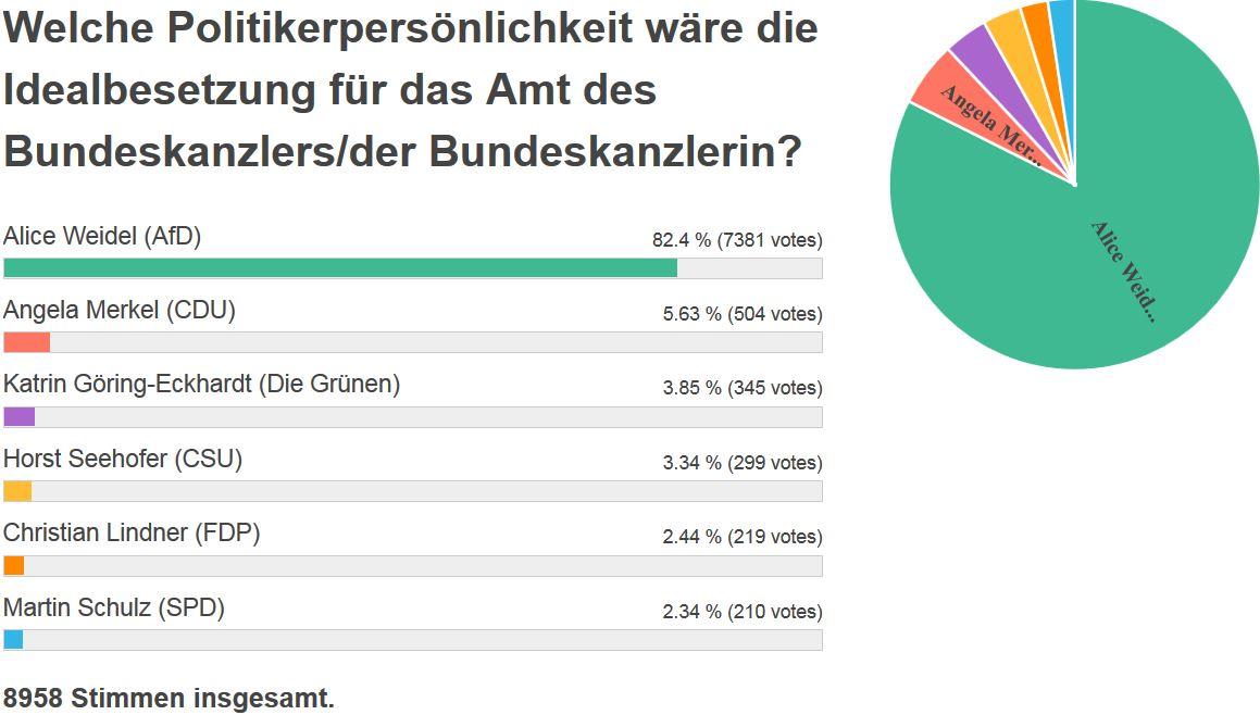 Strawpoll-Umfrage Bundeskanzler, 15.2.2019