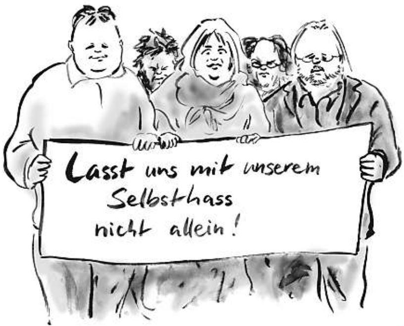 Satire von Bernd Zeller: Lasst uns mit unserem Selbsthass nicht allein.