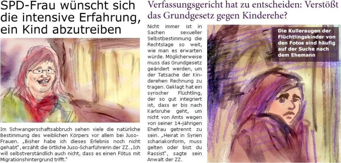 """Aktuelle Satire aus der """"ZellerZeitung"""""""