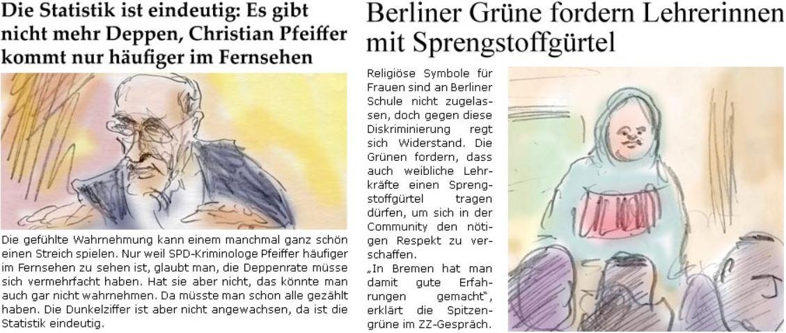 Berliner Grüne fordern Lehrerinnen mit Sprengstoffgürtel