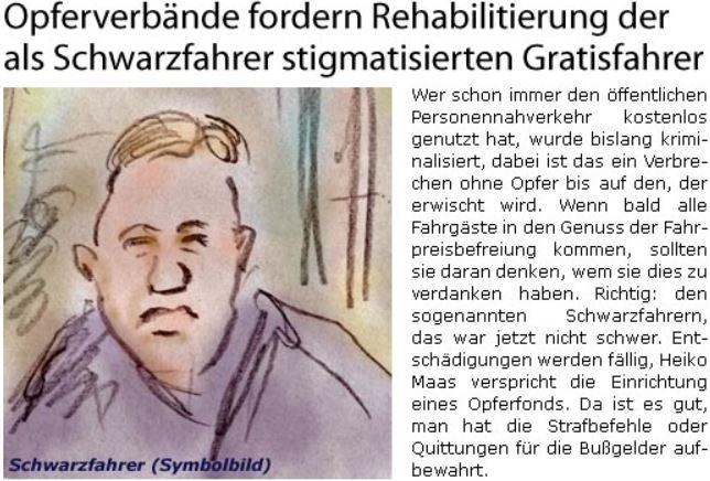 Rehabilitierung für Schwarzfahrer